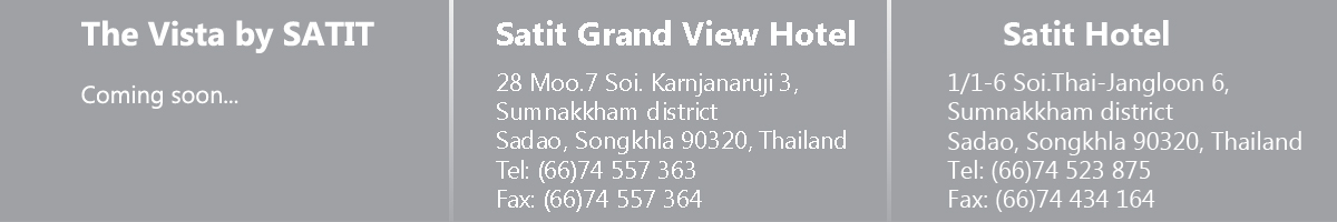 Address of Satit Grand View hotel, Satit Danok hotel